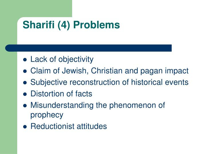 Sharifi (4) Problems