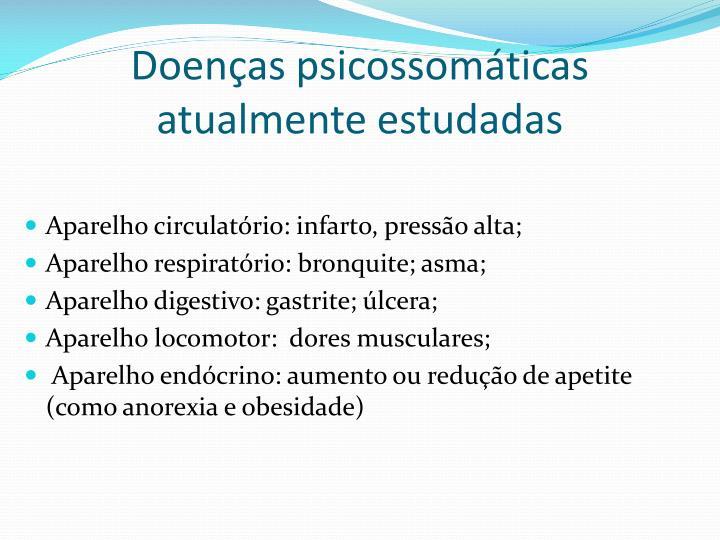 Doenças psicossomáticas atualmente estudadas