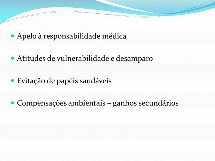 Apelo à responsabilidade médica