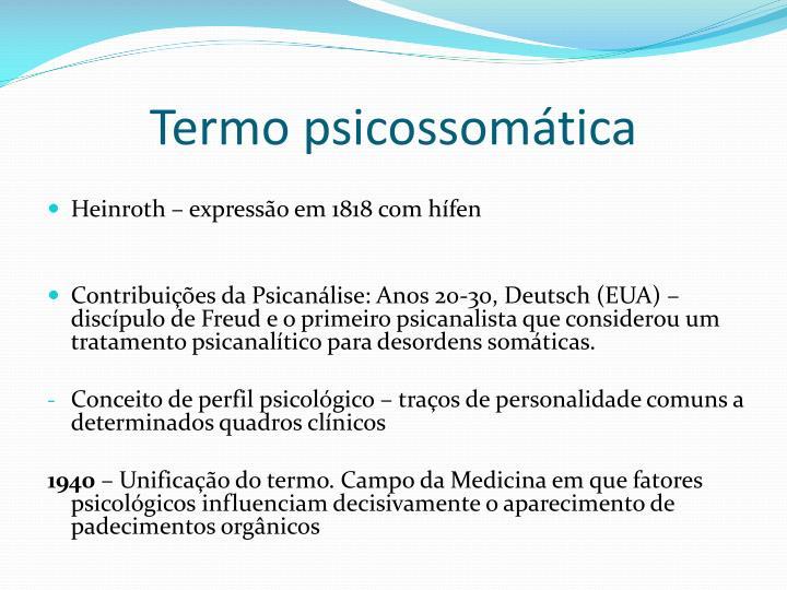 Termo psicossomática
