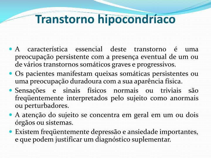 Transtorno hipocondríaco
