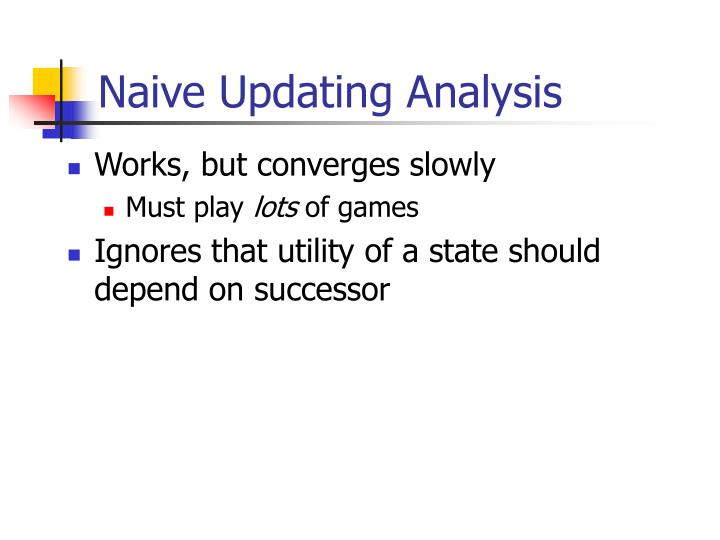 Naive Updating Analysis
