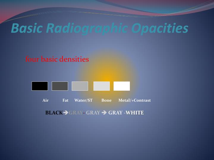 Basic Radiographic Opacities