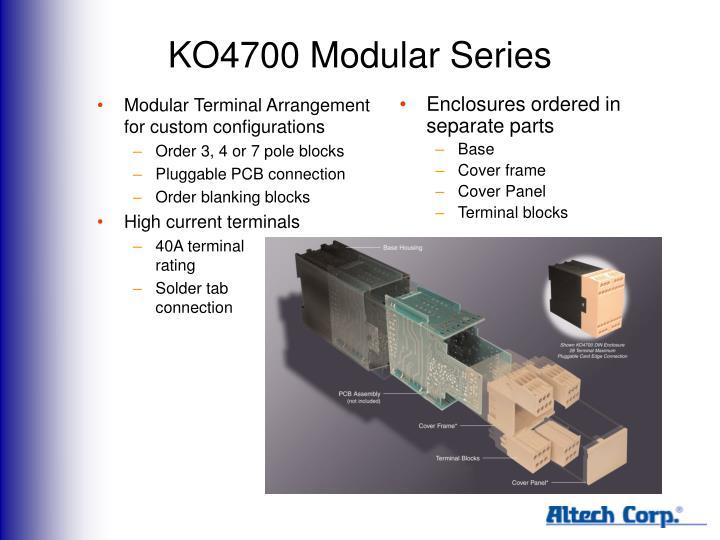 KO4700 Modular Series