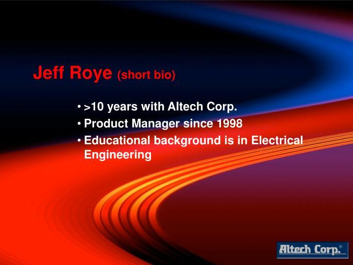 Jeff Roye