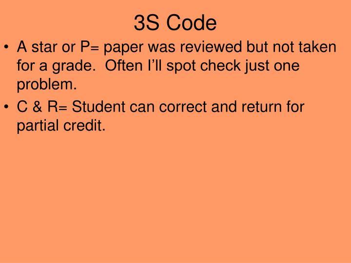 3S Code