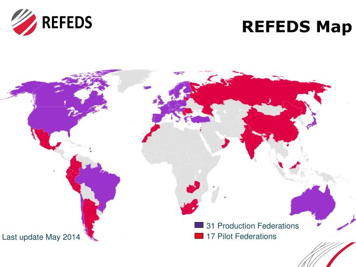 Refeds map