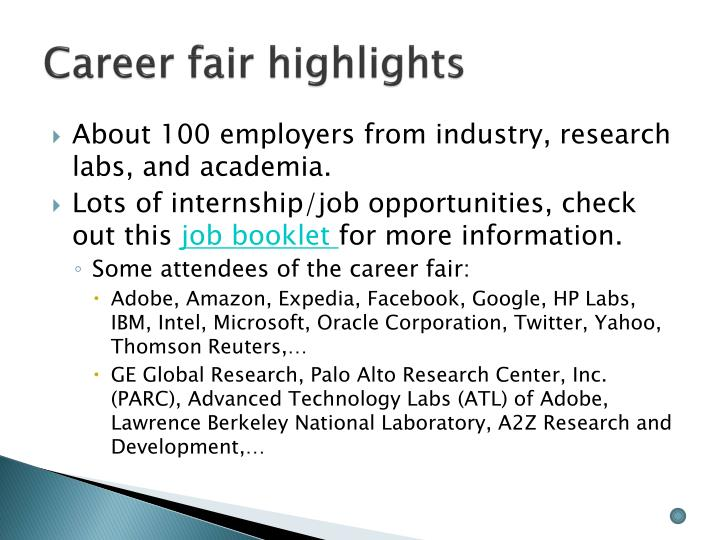Career fair highlights