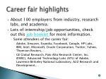 career fair highlights