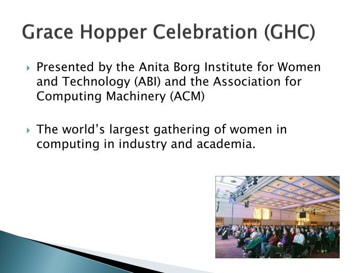 Grace hopper celebration ghc