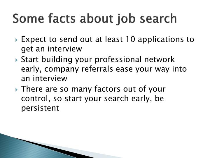 Some facts about job search