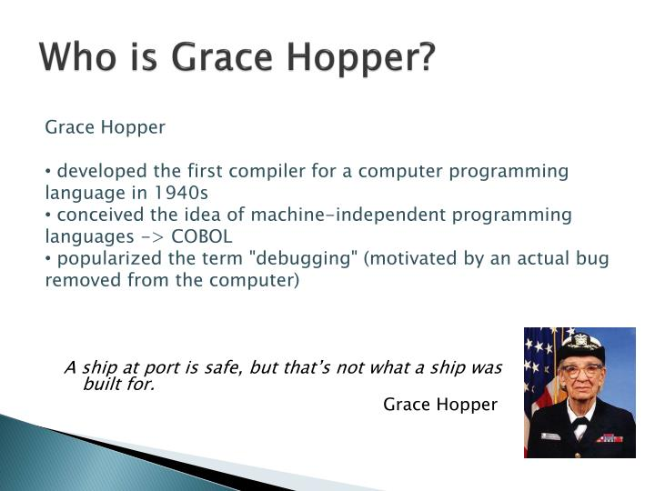 Who is Grace Hopper?