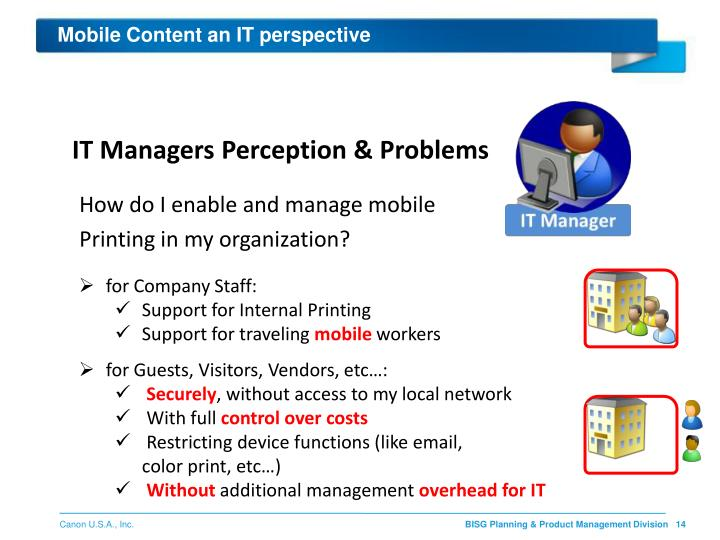 Mobile Content an IT perspective