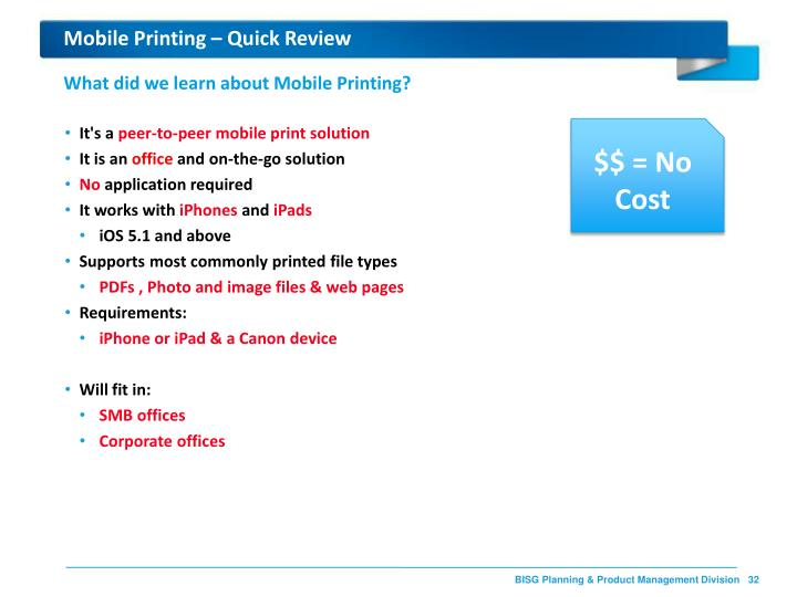 Mobile Printing – Quick Review