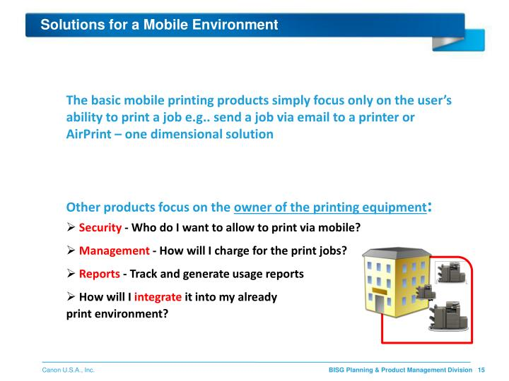 Solutions for a Mobile Environment