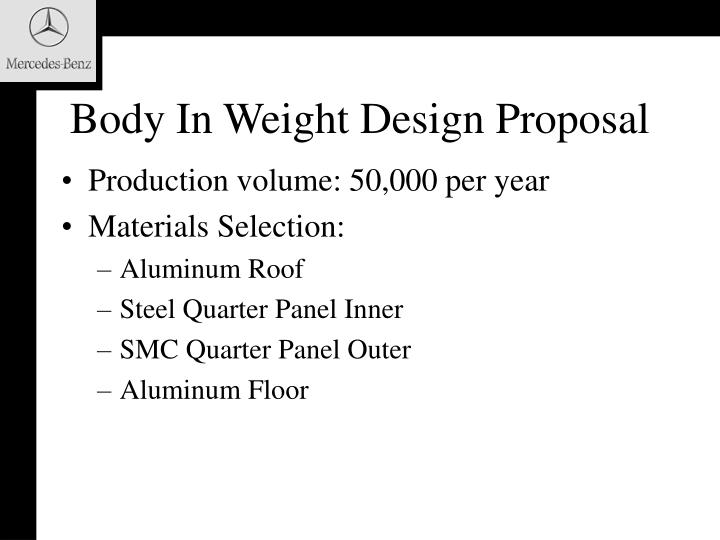 Body In Weight Design Proposal