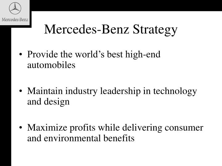Mercedes-Benz Strategy
