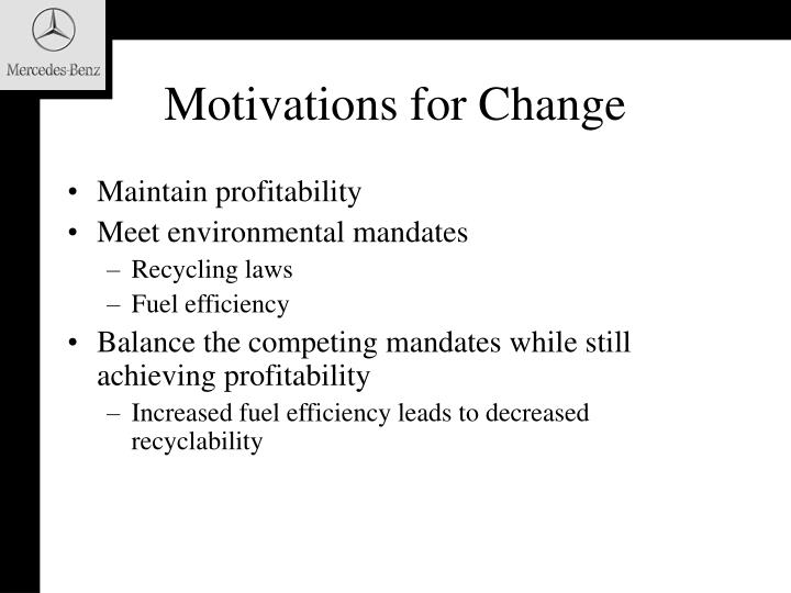 Motivations for Change