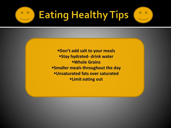 Eating Healthy Tips