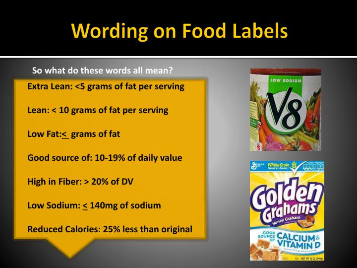 Wording on Food Labels