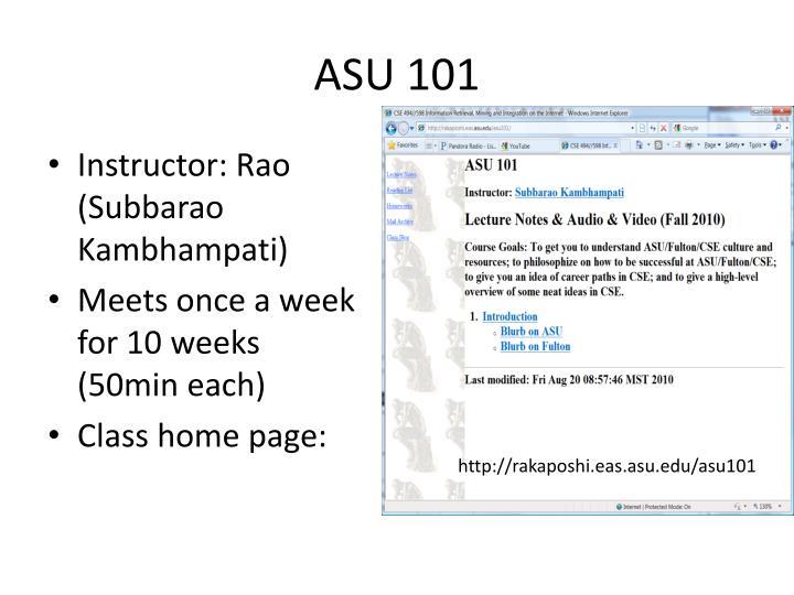 ASU 101