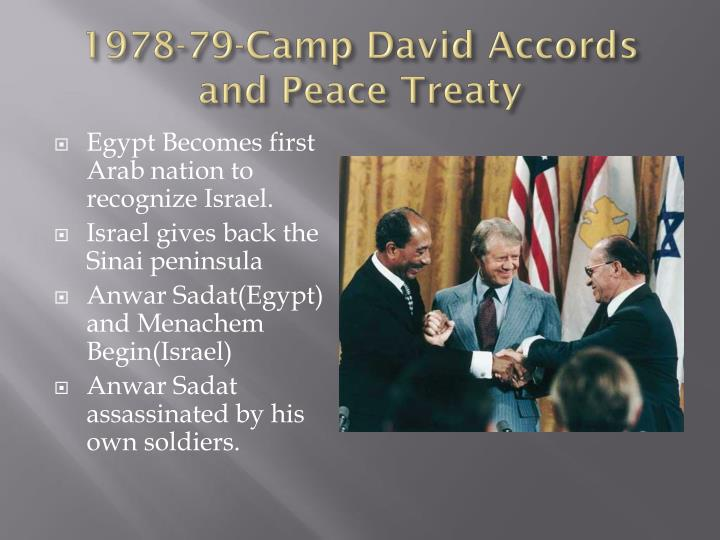 1978-79-Camp David Accords and Peace Treaty