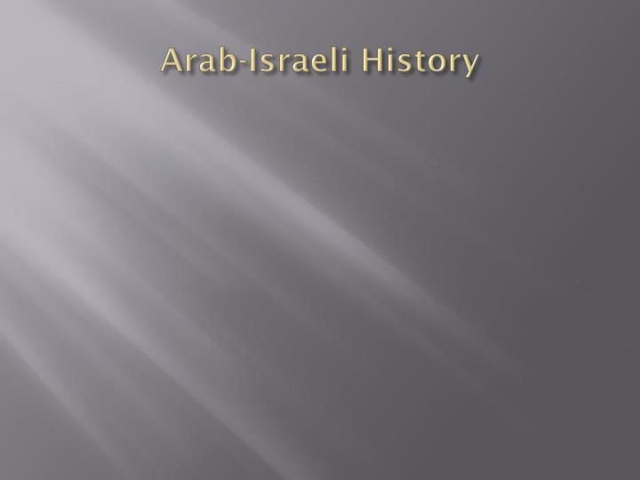 Arab-Israeli History