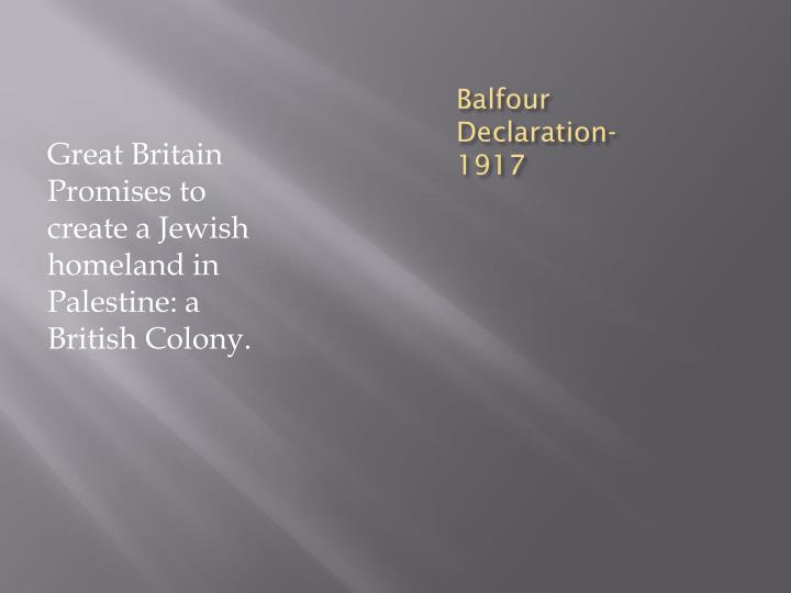 Balfour Declaration-1917