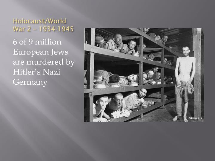 Holocaust/World War 2 – 1934-1945