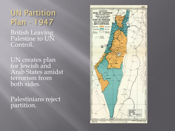 UN Partition Plan - 1947