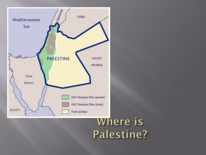 Where is palestine
