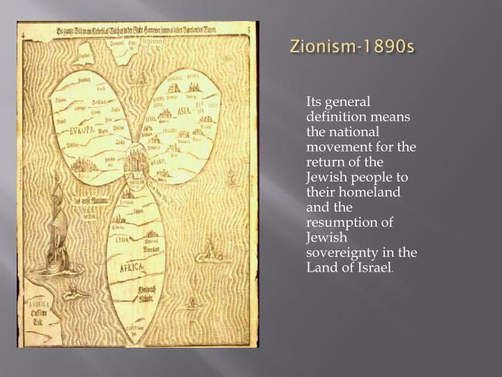 Zionism-1890s