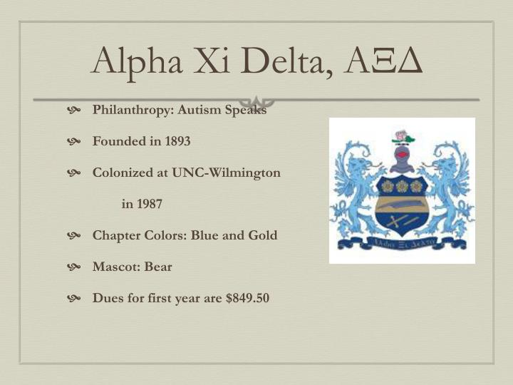 Alpha Xi Delta,