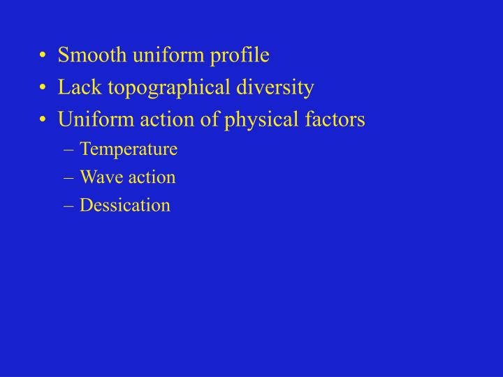 Smooth uniform profile