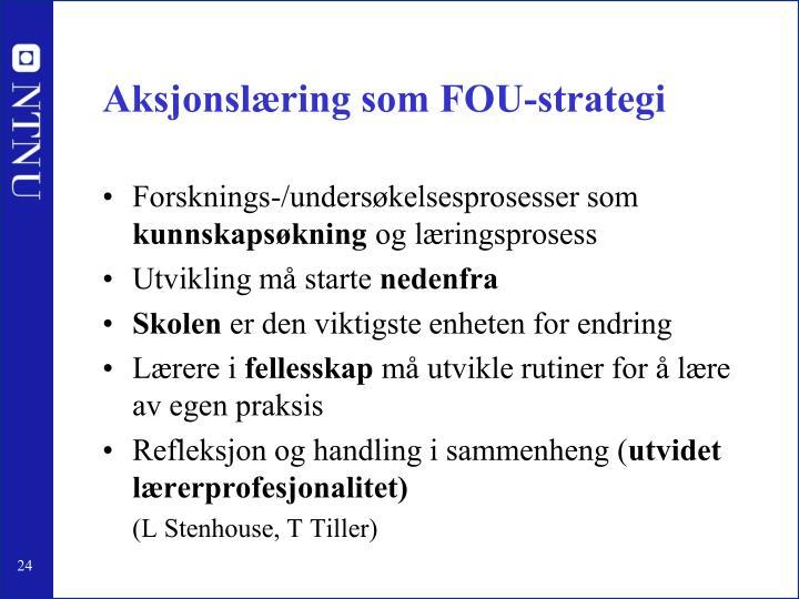 Aksjonslæring som FOU-strategi