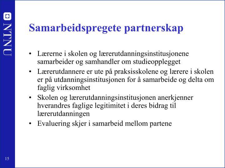Samarbeidspregete partnerskap