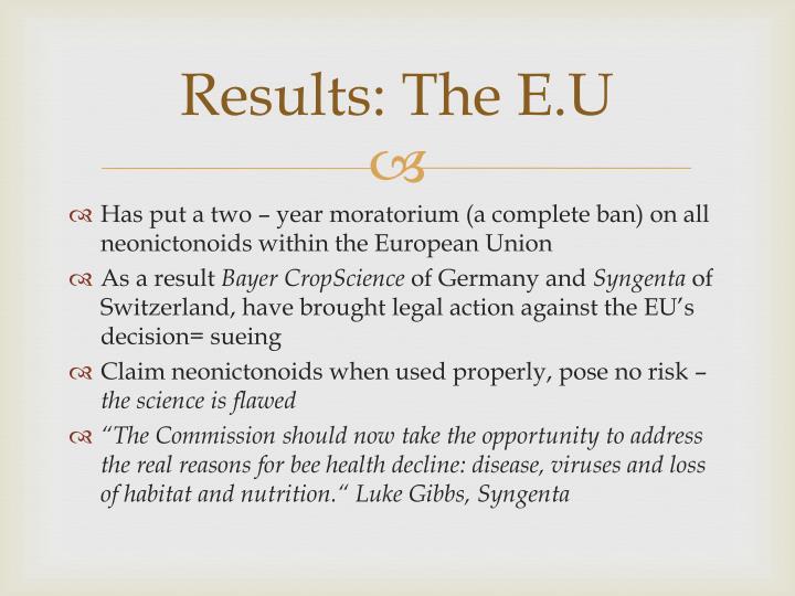 Results: The E.U