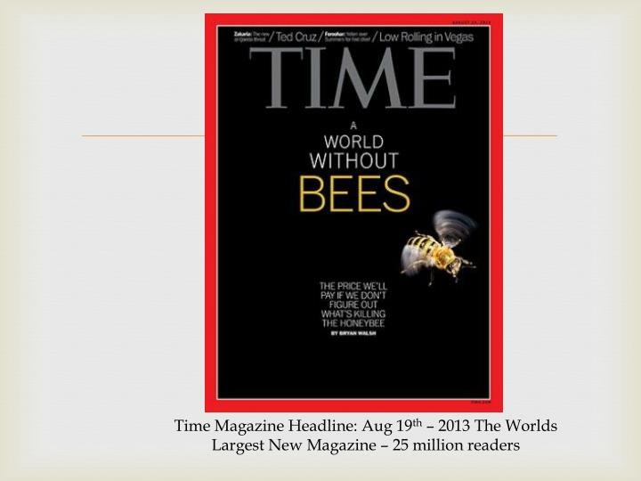 Time Magazine Headline: Aug 19