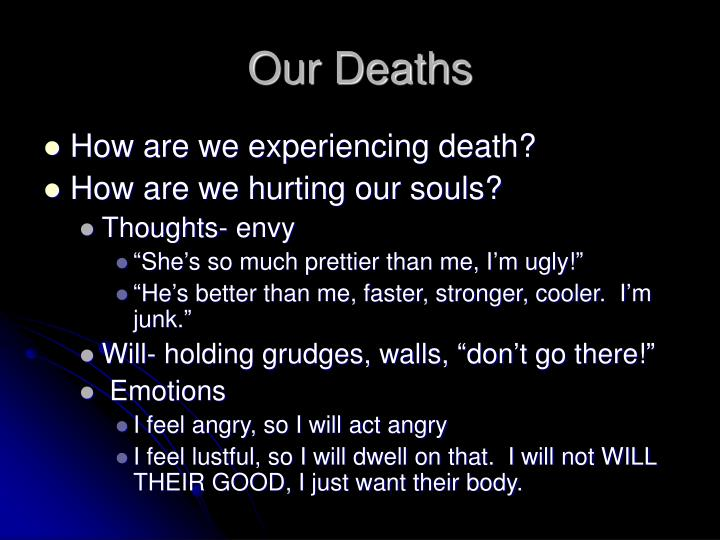 Our Deaths