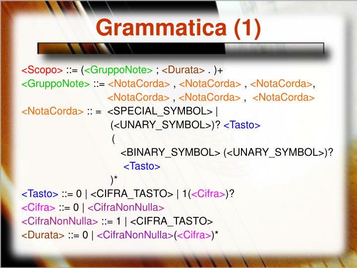 Grammatica (1)