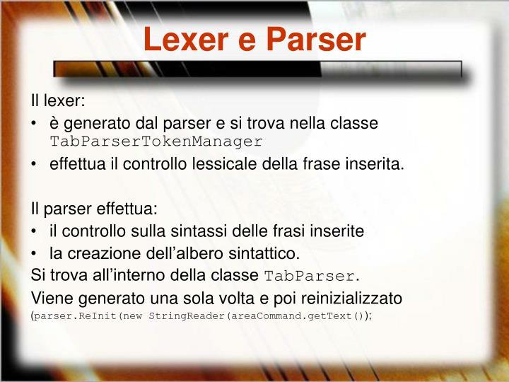Lexer e Parser