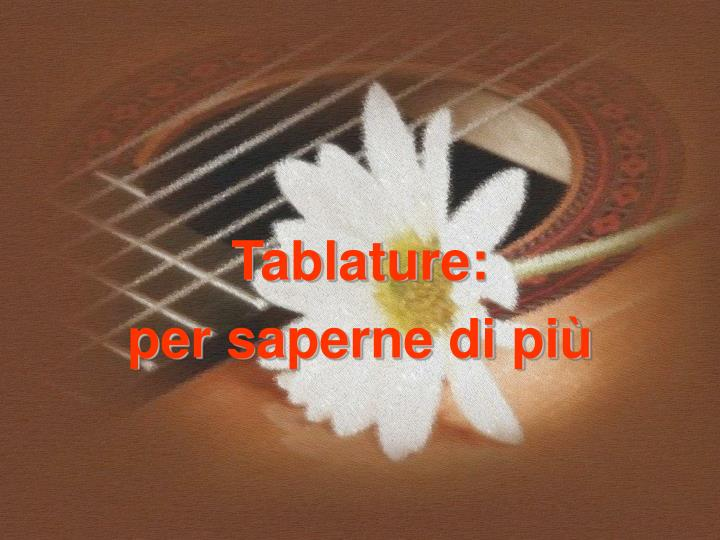 Tablature: