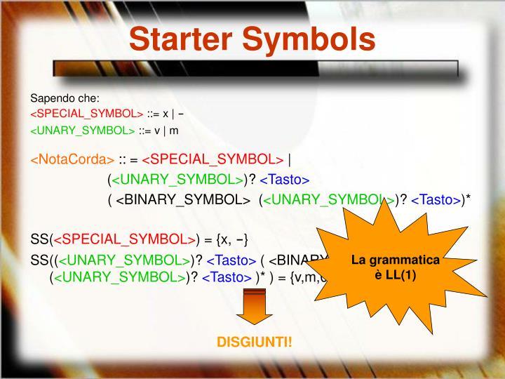 Starter Symbols