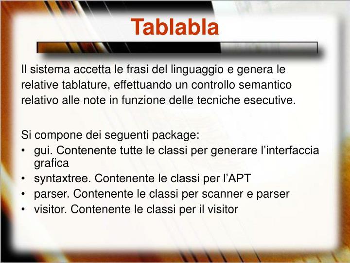 Tablabla