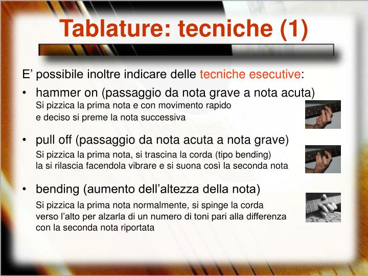 Tablature: tecniche (1)