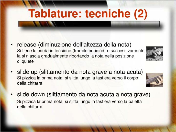 Tablature: tecniche (2)