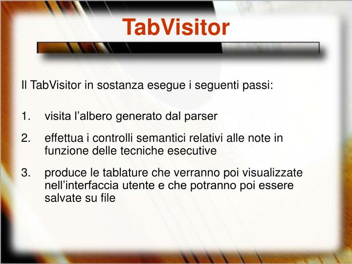 TabVisitor