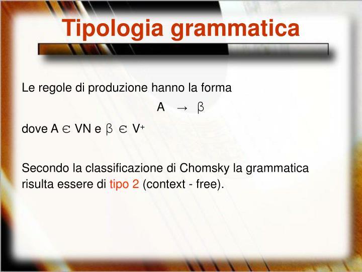Tipologia grammatica