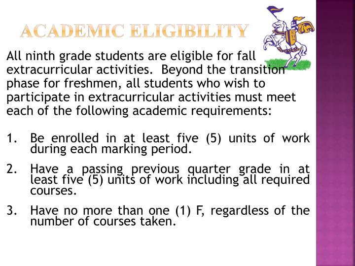 Academic Eligibility