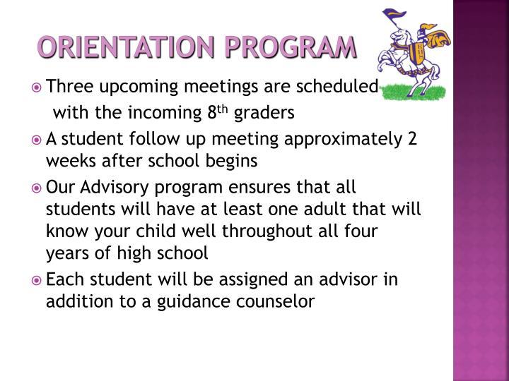 Orientation Program